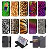 ANIMAL PRINT SKIN printed Flip Phone Case Cover Wallet iPhone 4 5 SE 6 7 8 X