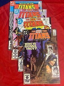 DC COMICS NEW TEEN TITANS 32 34 & 38 & TALES OF #53
