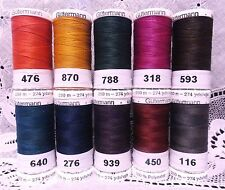 10 NEW 274 yard Spools Dark colors GUTERMANN 100% polyester sew-all thread
