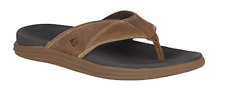 Sperry Gold Cup Regatta Thong Brown Men's sizes 7-14/NEW