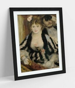 PIERRE AUGUSTE RENOIR, LA LOGE -DEEP FRAMED WALL ART PICTURE PAPER PRINT