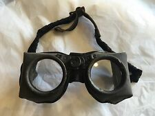 True Vintage Industrial Safety Goggles Glasses STEAM PUNK Clear Glass