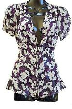 Career Short Sleeve Machine Washable Floral Tops & Blouses for Women