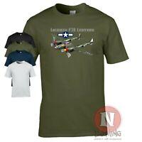 Lockheed P38 Lightning T-shirt WW2 World war 2 US Army plane fighter aircraft