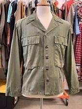 """U.S. Army G.I. Original WW2 HBT cotton shirt OD Green - 42"""" Chest Veteran."""