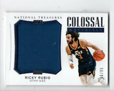 RICKY RUBIO 2017-18 NATIONAL TREASURES COLOSSAL MATERIALS JUMBO JERSEY /99