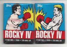 ROCKY IV TRADING CARDS TOPPS 2 SEALED PACKS 1985 SYLVESTER STALLONE DOLPH(DRAGO)