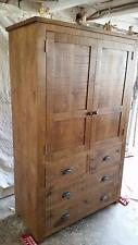 NEW REAL SOLID WOOD CUPBOARD UNIT SIDEBOARD CHUNKY RUSTIC PLANK PINE FURNITURE