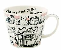 Moomin Valley Newborn Soup Mug Cup Monochrome MM321-36 400ml Japan