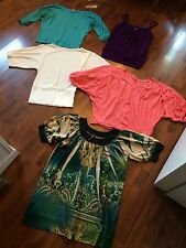 Women's Size Medium Shirt Lot Loose Baggy Tank Dressy Tees Ana Body Central