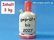 Gasflasche Propangasflasche 3 kg - geprüft bis 2027