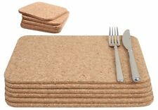 T&G Cork Rectangle Square Table Mats Coasters Placemats Set of 6 15037.40