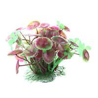 Plante Feuilles de Lotus Artificielle Aquatique en Plastique Pourpre Aquari X7J3