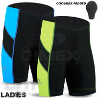 Ladies Cycling Short Anti-Bac Coolmax Padded MTB Cycle Bike Shorts Size S-M-L-XL