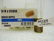 "(New) Ace 40122 Brass 3/8"" x Close Nipple Lot of 4 pcs"