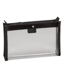Montblanc Liquid Mini Clear Flight Bag Top Zip Pouch Case Cosmetic Toiletry $120