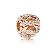 Authentic Pandora Rose Gold Shimmering Sentiments Bead Charm 781779CZ