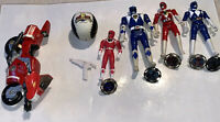 Vintage Power Rangers Figures Accessories Lot Of 20 Toys 1990s Bandai MMPR Rare
