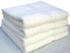 12 NEW WHITE HAND TOWELS 16X27 inches White 3 Lbs 100% Cotton FAST SHIPPING!