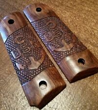 Full size 1911 Caribbean Rosewood Grips, USN - United States Navy