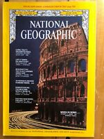 National Geographic June 1970 Musk Ox/Oldest Greek Ship/Capri Italy Rome No Map