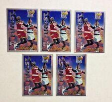 LOT OF 5 CLYDE DREXLER 1995-96 TOPPS MYSTERY FINEST INSERT BASKETBALL CARDS HOF