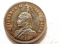 1891 German East Africa Quarter (1/4) Rupie Silver Coin