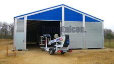 Industrie-Lagerhalle 12,5x45x4,3 sk 90kg Schneelasthalle Leichtbauhalle Aluhalle
