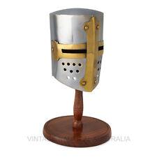 Vintage Nautical Mini Medieval Tournament Helmet Antique Metal Finish Gift Decor