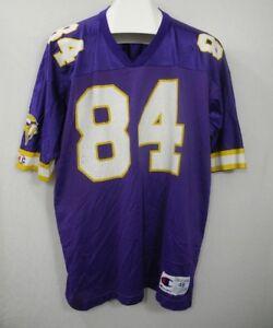 Vtg Randy Moss Champion Football Jersey Minnesota Vikings 84 Hall of Fame XL