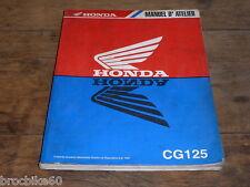 MANUEL REVUE TECHNIQUE D ATELIER HONDA CG 125 1998-> CG125 125CG JC27A
