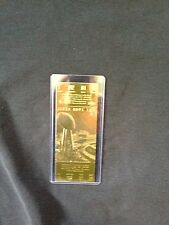 Washington Redskins vs. Buffalo Bills Super Bowl XXVI 22kt Gold Ticket (NEW)
