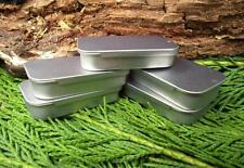 5 x MICRO SLIP LID TINS FOOD GRADE IDEAL FOR BUSHCRAFT KITS SEWING KITS SURVIVAL