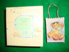1995/Enesco/Cherished/Ted dies (141879) Trick/Or/Treat/Bear/In/Ma sk/&/Cape! Cute!