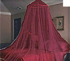 RED BURGUNDY BED CANOPY MOSQUITO NETTING FITS TWIN - QUEEN FREE SHIPPING FROM US