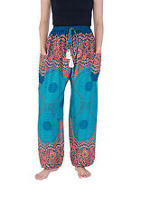 Womens Harem Pants Flowy Floral Boho Hippie Style Clothing Great Casual Trousers