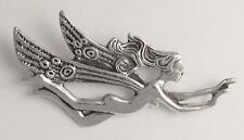Angel Brooch Pin Solid 0.925 Sterling Silver Guardian Angel