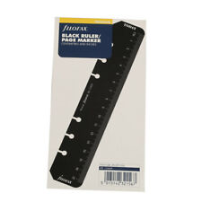 Filofax Book Personal Organiser Ruler Page Marker Black Insert Refill 133609 Cw