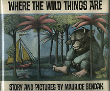 WHERE THE WILD THINGS ARE-MAURICE SENDAK-1ST/1ST W/DJ-1963-NICE BOOK!