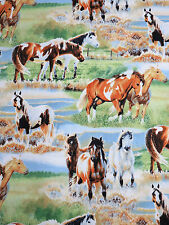 Unbridled Multi Scenic Horses Wilmington Prints Fabric #3210 By the Yard