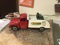 Antique Vintage 1950'S Buddy L Emergency Auto Wrecker Pressed Steel Tow Truck!