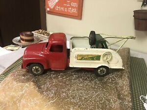 Antique Vintage 1950'S Buddy L Emergency Auto Wrecker Pressed Steel Tow Truck!