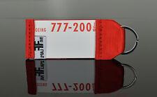 LAUDA AIR B777 Schlüsselanhänger by FlapsFive original Safety Card & Gurtband !