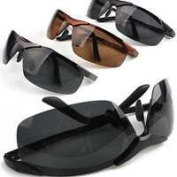 FT- Mens Cool Fashion Police Metal Frame Polarized Sunglasses Driving Glasses Wo