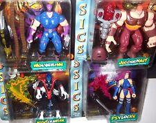 LOT - TOYBIZ MARVEL COMICS 1996 X-MEN CLASSICS Nightcrawler Wolverine + + FIGURE