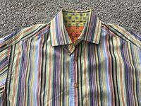 ROBERT GRAHAM Large Colorful Striped Shirt - Bold