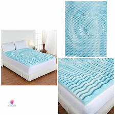 "Cooling Gel Foam Mattress Topper Pad Bed Cushion 5 Zone Orthopedic Firm 2"" Twin"