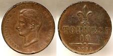 10 Tornesi 1859 Francesco II Regno delle Due Sicilie #998A