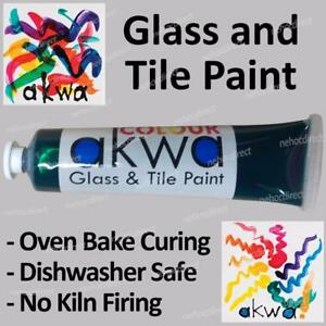 Emerald Green Stained Glass Paint, oven cure, dishwasher safe, easy use