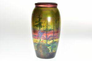 Weller Pottery 1920-25 LaSa Scenic Pine Trees Vase